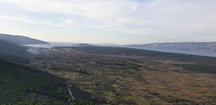 Stari Grad plain from the sky